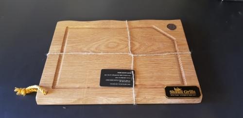 משטח חיתוך למטבח חוץ מעץ זית - אלון טבעי