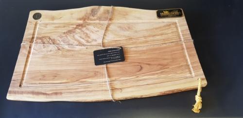 משטח חיתוך מעץ טבעי אלון - זית