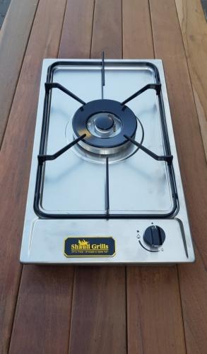 כירת גז למטבחי חוץ ומכסה שטוח