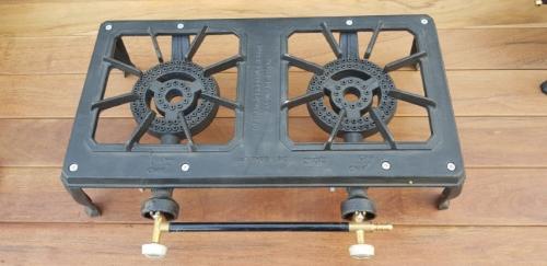 כירת גז שתי להבות במידות 50 × 30 סנטימטר