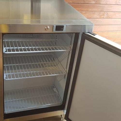 מקפיא נירוסטה מקצועי למטבחי חוץ - תצוגה דיגיטלית
